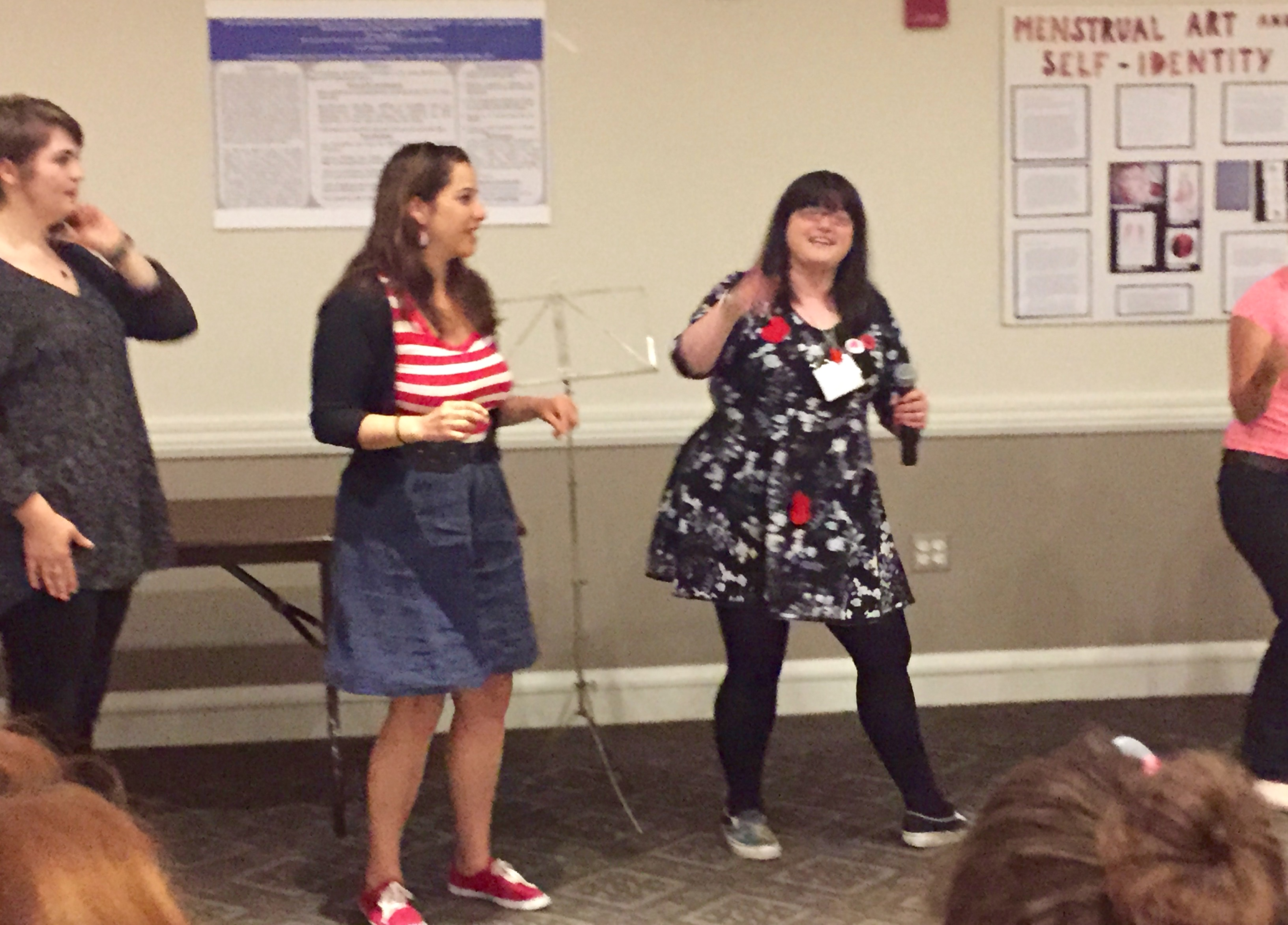 A cha cha about menstrual products, and other menstrual poetry open mic originals.